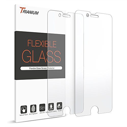 iPhone 7 Screen Protector, Trianium (2 Pack) Glass Screen Protectors (Shatterless Film0.25mm] [3D Touch Compatible] Work with iPhone 7 2016 & iPhone 6/6s and Protective Cases
