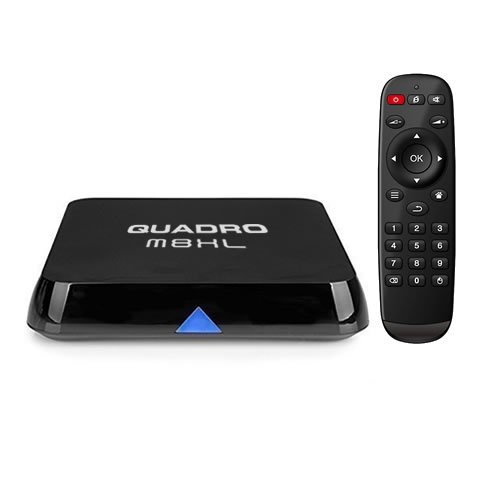 JUSTOP Quadro XL Quad Core Android 4.4 Kitkat KODI (Formerly XBMC) TV Box 2GB Ram 2.4Ghz 5Ghz Dual Band WiFi Ultra HD 4K Fully Loaded Internet Streamer Built-In 3D Engine 5Ghz Wi-Fi (M8XL)