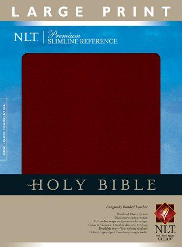Premium Slimline Reference Bible NLT, Large Print