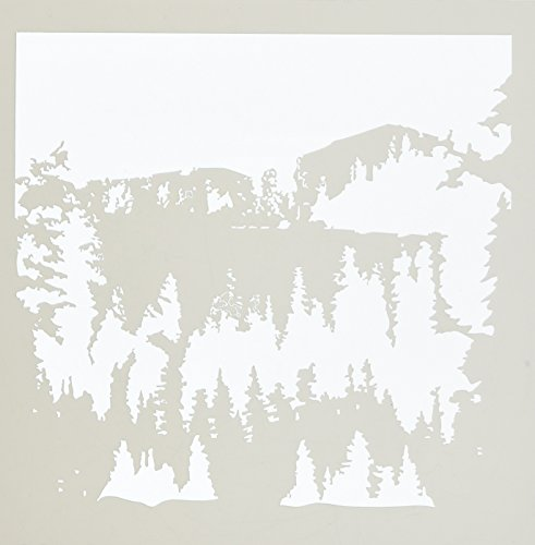 Crafter's Workshop Templates 6X6-Snowy Treescape