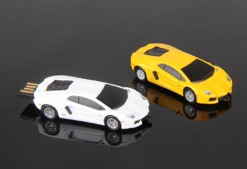 Lamborghini Murcielago Car USB Memory Stick Flash Drive 4Gb - WHITE
