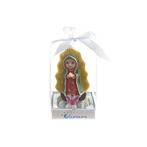 Lunaura Religious Keepsake - Set of 12 Our Lady of Guadalupe Baby Figurine Statue Favors