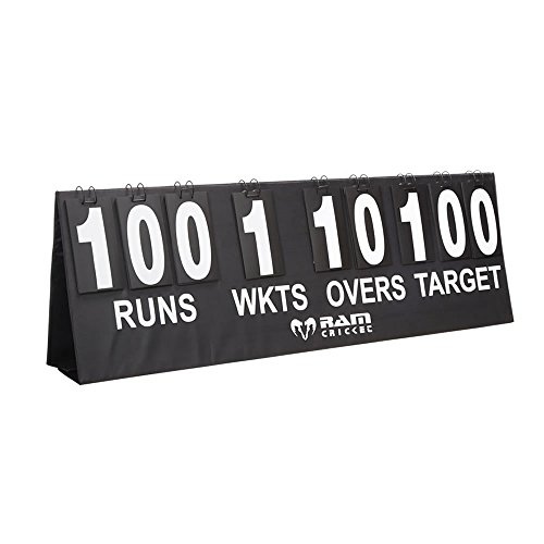 Ram Cricket Portable Scoreboard with 20cm Digits including Carry Case