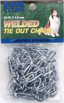 Coastal Pet Products DCP89035 Titan Welded Link Tie Out Chain, 3.8mm by 10-Feet