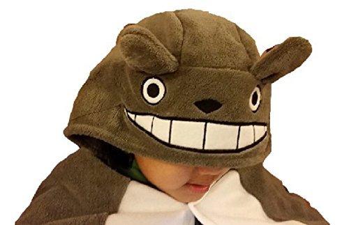 HiRudolph Cosplay My Neighbor Totoro Shoulder Cape Shawl Cloak Soft Plush Costume