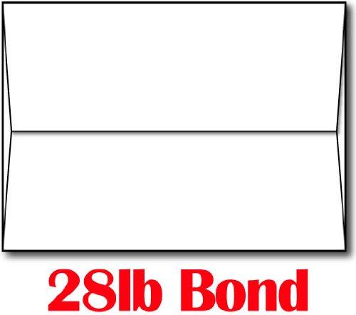 28lb/70lb Bright White A7 Envelopes (5 1/4 x 7 1/4) - 100 Envelopes - Desktop Publishing Supplies™ Brand Envelopes