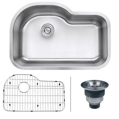 Ruvati RVM4700 Undermount 16 Gauge 32? Kitchen Sink Single Bowl