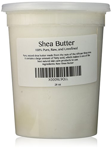 100% Pure Unrefined Raw SHEA BUTTER -  from the nut of the African Ghana Shea Tree (28 oz)
