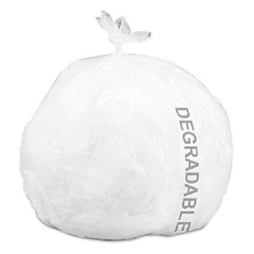 Stout - Eco-Degradable Plastic Trash Garbage Bag, 13gal, .7mil, 2x30, White - 120/Box