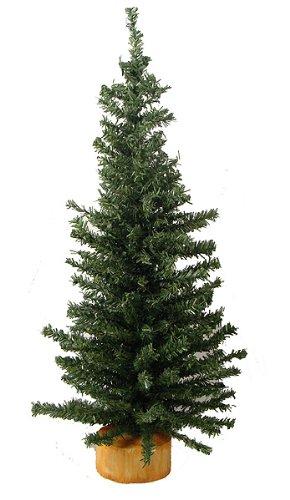 Vickerman 9227918 Unlit Mini Pine Artificial Village Christmas Tree, 18