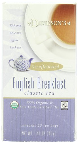 Davidson's Tea Decaf English Breakfast, 25-Count Tea Bags (Pack of 6)