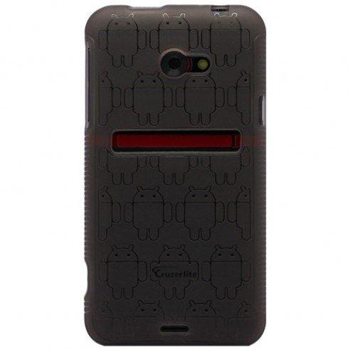 Smoke Androidified Cruzerlite TPU Case, For HTC EVO 4G LTE