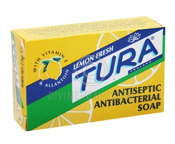 Tura Antiseptic Antibacterial Lemon Soap 2.5oz
