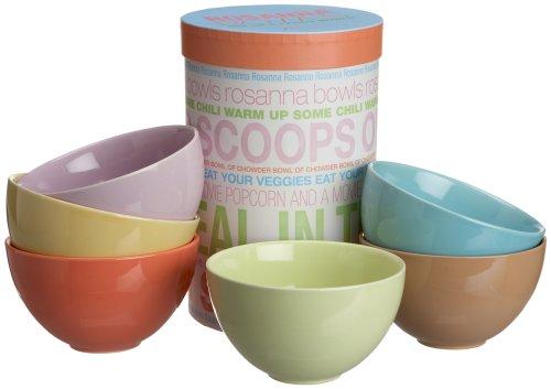 Rosanna Rosanna Bowls 6-1/2-Inch Gift-boxed Bowls, Set of 6