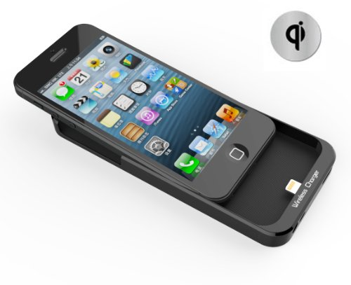 CHOETECH Inductive Wireless Charging Receiver Case for Iphone 5 Qi Standard Black Color