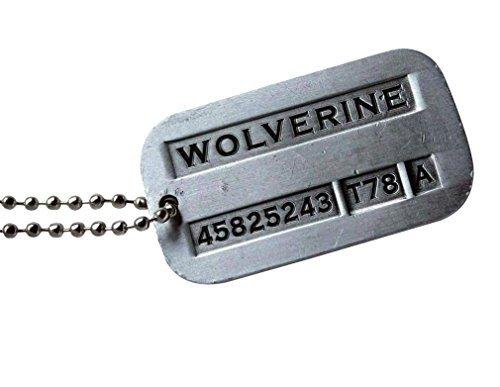 eKingstore New Male Cool Kpop X-men Wolverine 2 Necklace Vintage Weapon-X Dog Tags Pendant - Fashion Design