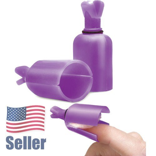 Artisan Gel Nail Remover Tool   Clip-On - Purple Color - 10 pcs