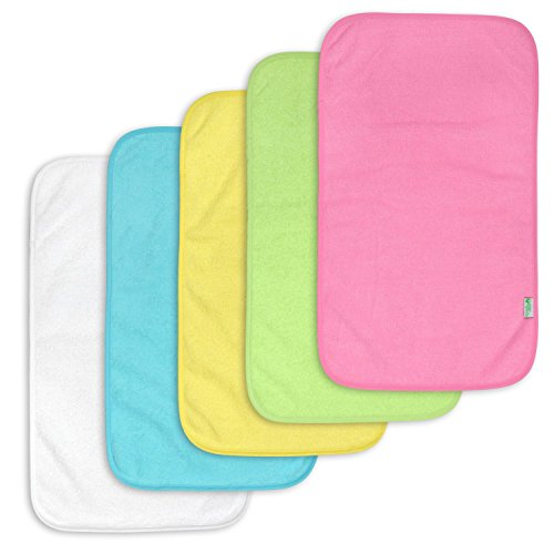 green sprouts 5 Count Waterproof Absorbent Terry Burp Pad
