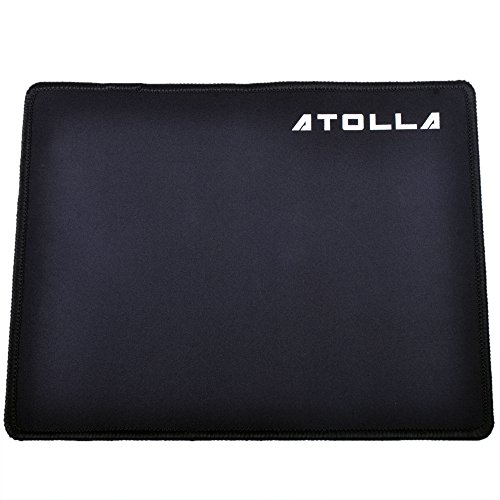 Mouse pad, ATOLLA Comfortable Gaming MousePad 10x8 inches (Black)