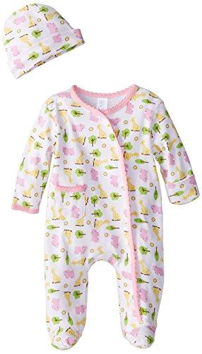 Spasilk Baby-Girls 100% Cotton Newborn Sleepwear Two-Piece Set