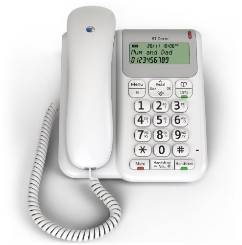 BT Décor 2200 Corded Telephone - White
