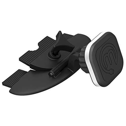 Mengo Aluma CD Phone Car Mount - Aluminum Magnetic CD Car Holder/Cradle with Secure & Solid Grip - Universally Compatible, Fits All Vents for iPhones, Samsung, LG, HTC, Motorola