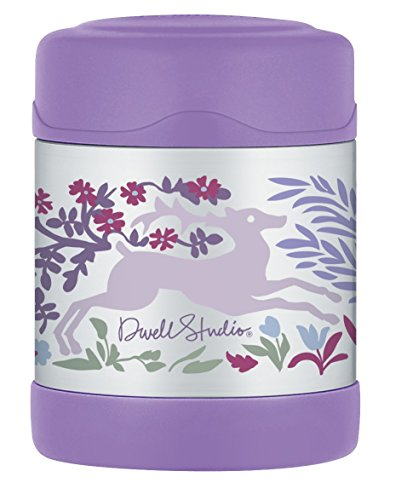 Thermos DwellStudio for Thermos Vacuum Insulated Stainless Steel Funtainer Food Jar, Fauna, 10 Ounce