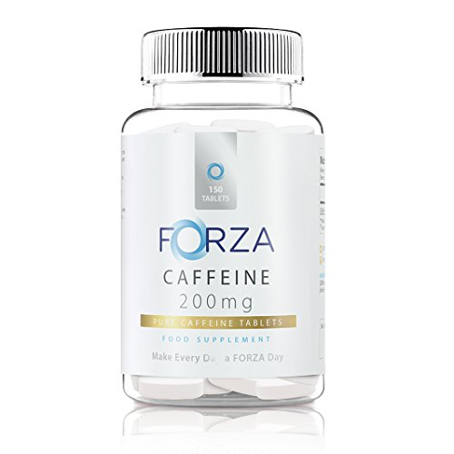 FORZA Caffeine Tablets - Pure Caffeine Energy Tablets - Strong Caffeine Pills For Energy Boost & Alertness - 150 Tablets