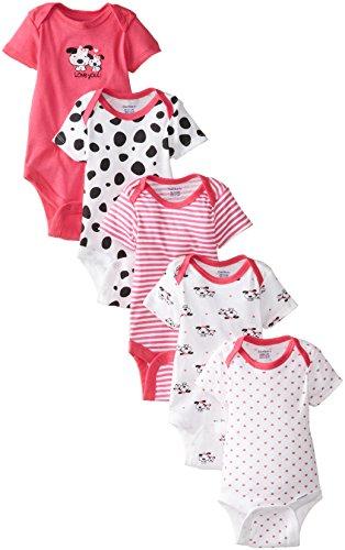 Gerber Baby Girls' Five-Pack Variety Bodysuits