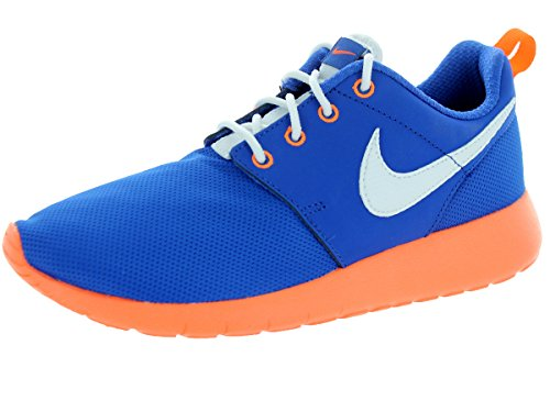 Nike Kids Roshe One (GS) Game Royal/White/Ttl Orange/Blk Running Shoe 5.5 Kids US