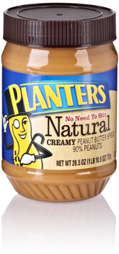 Planters Natural Creamy Peanut Butter Spread, 26.5 Oz