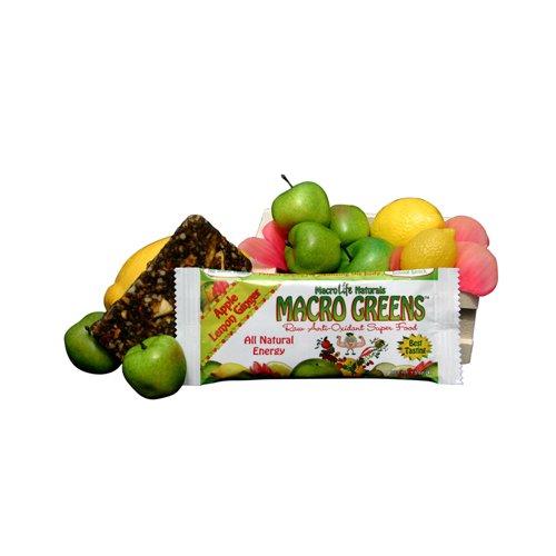 Macro Life Naturals Macro Greens Nutrient Rich Superfood Bar Apple-Lemon-Ginger -- 1.5 oz