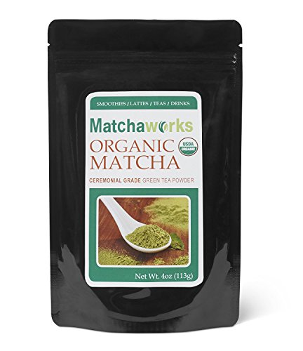 Matchaworks 100% USDA Certified Organic CEREMONIAL GRADE A Matcha Green Tea Powder 4oz
