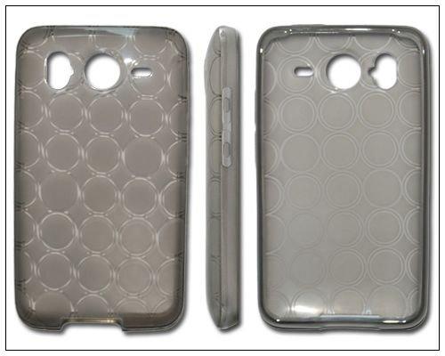 BONAMART ® HTC Inspire 4G/ Desire HD Rubber TPU Skin Case/ Protector - Smoke Circle