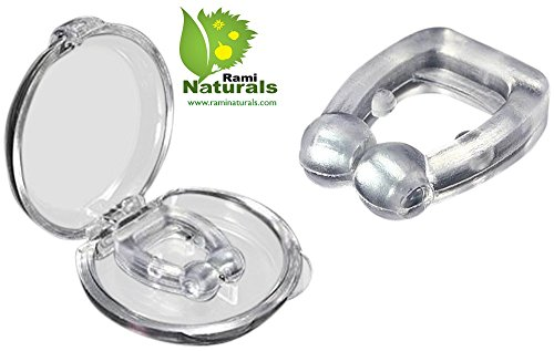 Rami Naturals Anti Snoring Nose Clips - Breathe Easier - Free Travel Case and Beauty Recipes - Quiet Sleep - Best Alternative to Other Anti Snore Devices Such as Pillows and Nasal Strips