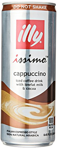 Illy Issimo Cappuccino Coffee Drink, 8.4 Ounce (Pack of 4)