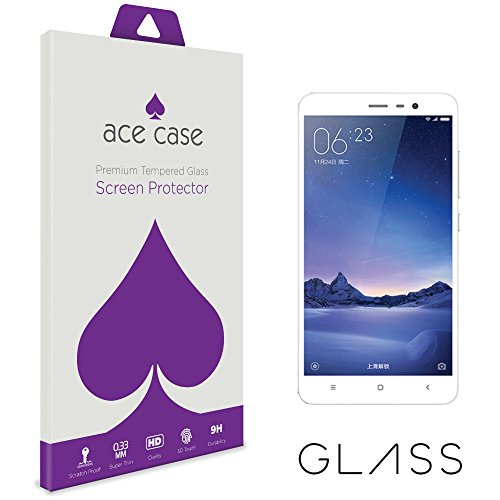 Xiaomi Redmi 3 Pro Screen Protector Tempered Glass (CRYSTAL CLEAR COVERAGE) Front Shield Scratch Proof Protection Exclusive to ACE CASE