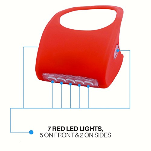 Camelion® Silicone 7 LED Bike Light, Red with FREE Batteries
