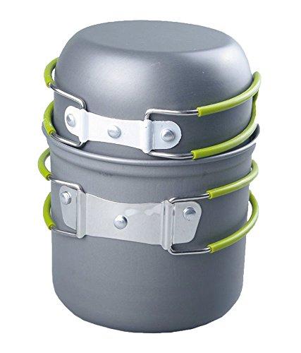 niceEshop(TM) Outdoor Cooking Bowl Set Picnic Camping Backpacking Pot Pan Cookware(Grey)