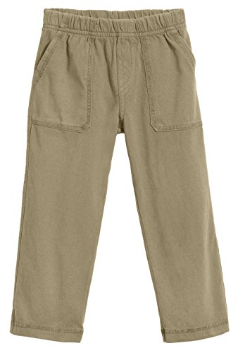 City Threads Big Boys' and Girls' Soft Jersey Tonal Stitch Pant - Dark Khaki, 10