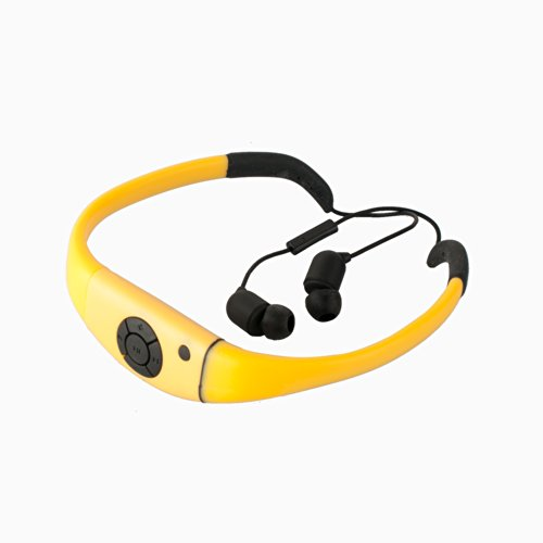 Expower(R) IPX8 Waterproof Bluetooth Headset/headphone/Mic for iPhone/Samsung Smartphone and Google Smartphone (Yellow)
