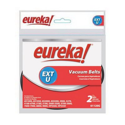 Electrolux Homecare Products 61120G Extended Life Style U Belt, For Eureka Vacuum, 2-Pack