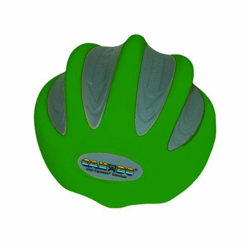 CanDo 10-1982 Digi-Squeeze Hand Exerciser, Medium, Green-Moderate