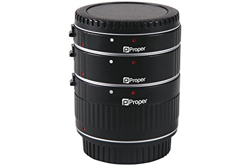 Proper Macro Extension Tube Set for all Canon EOS DSLR e.g 1200D, 100D, 700D, 750D, 760D, 60D, 70D