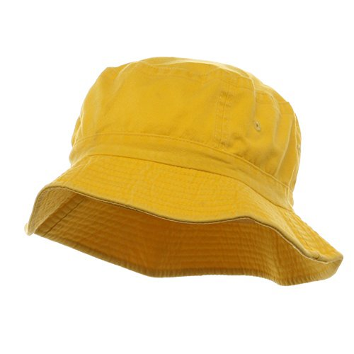 Pigment Dyed Bucket Hat-Yellow W12S43E
