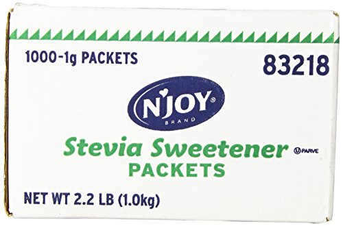 N'Joy All Natural Zero Calorie Sweetener, Green Stevia, 1000 Count