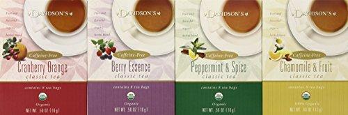 Davidson's Tea Assorted Herbal, 8-Count Tea Bags (Pack of 12)