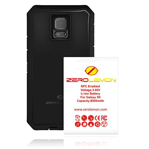 [180 Days Warranty][Case WITHOUT Battery] ZeroLemon Samsung Galaxy S5 Zero Shock Series - Rugged Pink / Purple Hybrid Protection Case, With High Quality Screen Protector - World's Only Universal Form Fitting Case, Fits any Battery Size