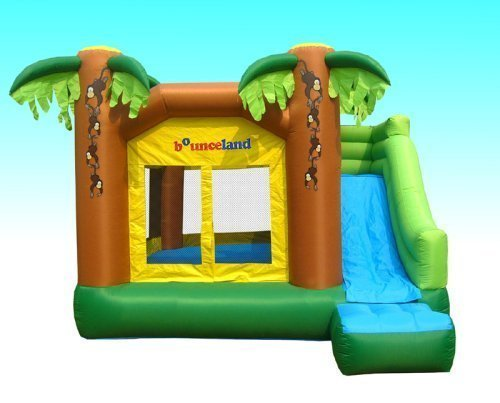 Jungle Inflatable Bounce House W/slide Bouncer