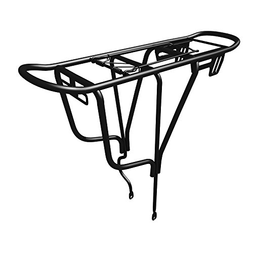 Sportly Iron Cargo Heavy Duty Bike Carrier Rack - Durable yet Lightweight Bicycle Rack Secures Packs, Panniers and Trunk Bags, Rear Mount Assembly, Supports Up to 110 lbs. Won't Twist or Warp